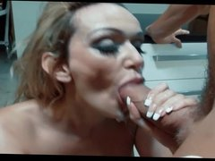 hot milf facialized by her lover