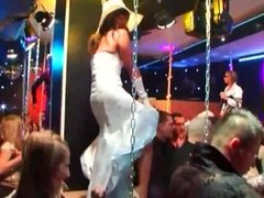Sexy pornstars fucking in public at swinger party