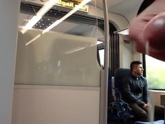 jerking off infont of a guy in the train part 2