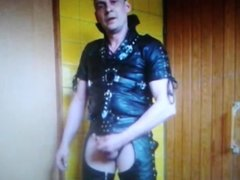 Lovly Leather man show it all