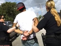 Before the police come and fake cop cumshot