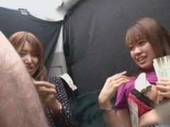 Japanese pickup gals payed to try facial