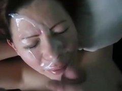 Wife Gets a Huge Facial