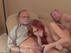 Huge natural tits threesome and english