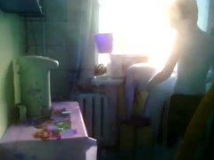 Spying on boy who is fucking Russian mature mom