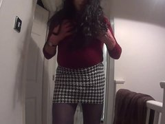 Mask On Tights Boots Girdle