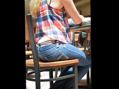Girls exsposed thongs in public