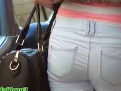 Pickedup euro Marie Getty cockriding outdoors