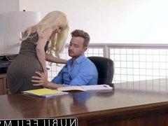 Elsa Jean Gives Boss Messy Blowjob & Swallows