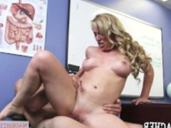 Busty, horny teacher Cherie DeVille seduces her student - Naughty America