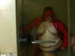 rain coat shower