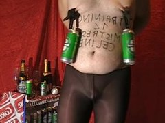 Tits Pain with Heineken Cans
