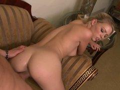 Petite Nicole Ray gets pounded hardcore on the carpet