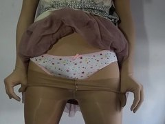 Zentai Lori Crossedresser Star Panties