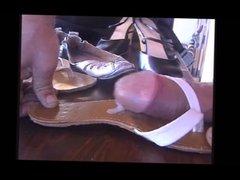 V-thong sandals got cock