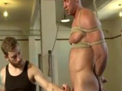 Bodybuilder Bound and Tortured with Milking at end very hot