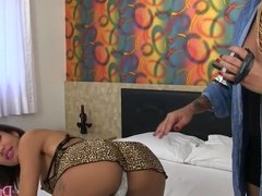 Shemale on Shemale bareback creampie