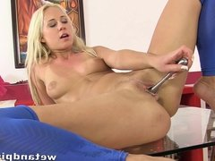 Carla Cox Playing in her own piss