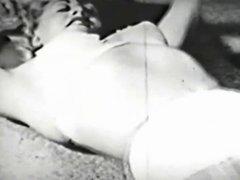 Vintage blonde in nylons