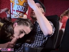 Movie Theater Threesome