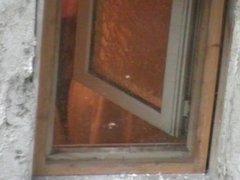 bbw granny window spy cam
