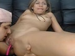 Latina Gets Her Holes Licked By Two Guys On