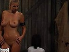 Blonde Mistress With Big Natural Tits Undressing