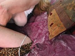 Granny Gilf Barb Bent over with Ass