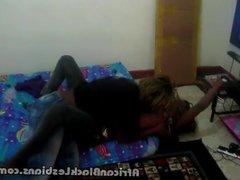 Hot African lezzie seduces black beauty