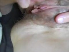 more spreading and cumming on wifes swollen clit