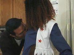 White Guy Banging Sexy Black Teen Cheerleader