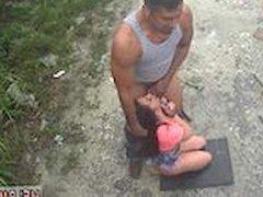Girl caught in self bondage Car problems in