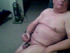 Old men masturbating