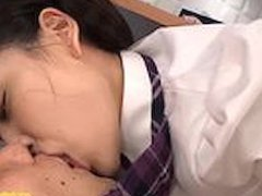 Jav Idol Abe Mikako Fucked On Desk In Her Dolls Outfit At Porn HQ