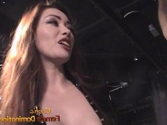 Naughty bald dude enjoys filming BDSM scenes with hot star