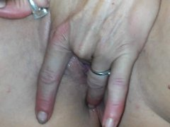 Rubbing my Cum into her Vagina and Asshole