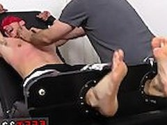 Feet on penis gay Kenny Tickled In A