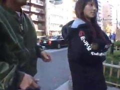 CMNF - Asian Girl Nude in Public