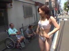 CMNF - Asian Girl Nude in Public