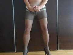 Pantyhose and cum 3