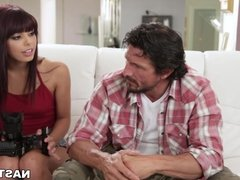 Step daughter makes sextape with her Dad - Gina Valentina