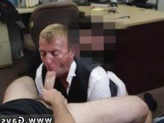 Gay sucks off straight guy watching porn He