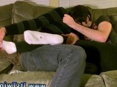 Boy in black speedos gay Tristan has