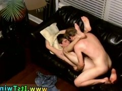 Cute gay twinks cum inside while fucking