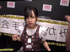 Jav Idol Abe Mikako Gets Gang Bukkake In Dolls Outfit At Talent Contest