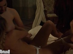 Beautiful Lesbian Threesome With Curvy Slaves