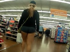 Sexy booty shorts lovely cheeks