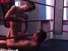 English lads ass rimmed at the gym