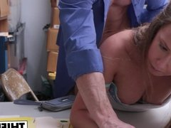 Thief Brooke Bliss Bend Over For Frisking