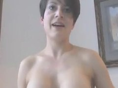 Brunette fucking BBC and swallowed his cum